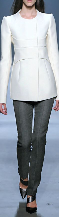 Narciso Rodriguez ● Fall 2014,  Double Face Wool Jacket