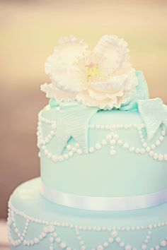 tiffany blue cake - so pretty