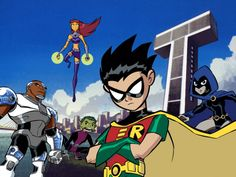 Teen Titans << I SO REMEMBER THIS SHOW! Did anyone else know they made a different little cartoon with the same characters in it??? It's called 'titans go' I think, or something like that. It's so AWFUL