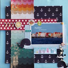 A layout using Down by the shore from Fancy Pants Design by Valerie Huang