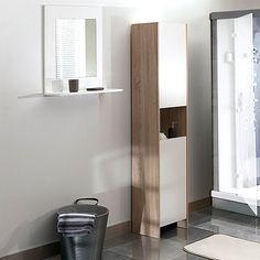 L'armoire colonne de salle de bain Banero offre un grand volume de rangement. 2 portes, une niche centrale et 4 étagères intérieures réglables en hauteur pour accueillir linge et accessoires de toilette.Descriptif de l'armoire colonne de salle de bain, Banero :- 2 niches, supérieure et inférieure, avec porte (2 étagères intérieures, amovibles et réglables en hauteur, dim. utiles de la niche L35 x H72 x P28 cm).- 1 niche centrale ouverte (L35 x H33,2 x P28 cm).- Ouverture des portes à...