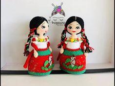 China Poblana en mini muñeca amigurumis by Petus (English subtitles) - YouTube Poblano, Crochet Videos, Amigurumi Doll, Mini, Mexico, Crochet Hats, Fancy, Youtube, Dolls