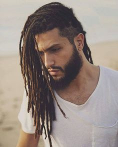 Well Kept Tight Dreads - Men's Hairstyles - Thin Dreads, Locs, Hair And Beard Styles, Curly Hair Styles, Natural Hair Styles, Dreadlock Hairstyles For Men, Men's Hairstyles, Mens Dreads, Black Men Beards