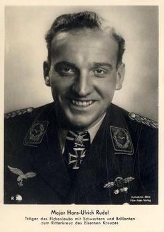 Hans-Ulrich Rudel (1916-1982), a Junkers Ju-87 Stuka dive-bomber pilot during…