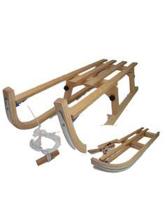 Snow Rodel 110 Folding Wooden Sledge Toboggan: Amazon.co.uk: Sports & Outdoors