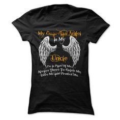 [Hot tshirt names] My Guardian Angel Is My Uncle Discount 20% Hoodies, Funny Tee Shirts
