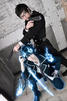 Rin y Yukio Okumura *w*