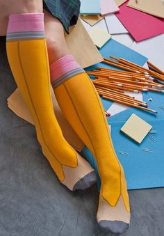 Happy back to school! Pencil Socks