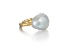 A Baroque Pearl Ring