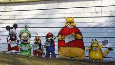 Cartoon characters in crime - In Chambery, France