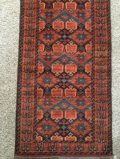 Product Details: -> Bisher hallway runner Rug -> Origin: Turkoman -> Dimensions: 98 x 28 Feet -> Total Sqft: 27.1 -> Hand Knotted Rug -> SKU: 1501 This rug can be best for your home, living room or Office. We are one of the leading Rugs and Carpets sellers in United States. We have