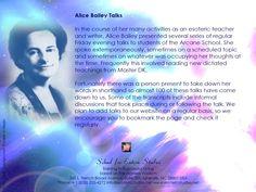 AAB Alice Bailey Talks
