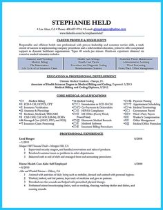 medical billing resume sample - sharepdf.net | resume | pinterest ... - Medical Billing Resume Examples