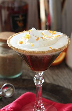 Spanish Coffee with Espresso is am amazing blend of coffee, espresso, brandy and orange zest spiked whipped cream. You have to try it!