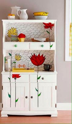 Pretty painted cabinet