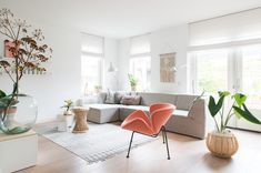 my scandinavian home: A White Dutch Home With Salmon Pink Accents