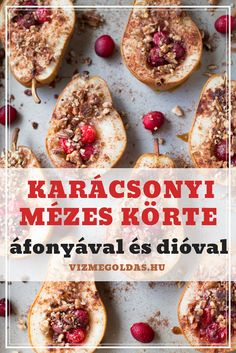 Egészséges karácsony - Karácsonyi mézes körte áfonyával és dióval Christmas Feeling, Granola, Baked Potato, Healthy Recipes, Healthy Food, French Toast, Christmas Crafts, Paleo, Food And Drink