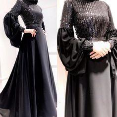 50 Ideas For Dress Brokat Satin Muslim Hijab Evening Dress, Hijab Dress Party, Hijab Style Dress, Evening Dresses, Islamic Fashion, Muslim Fashion, Modest Fashion, Fashion Dresses, Fashion Clothes
