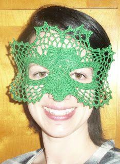 365 Crochet: St. Patrick's Shamrock Masquerade Mask ~ free pattern