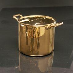 Small Gold Pot  Alessandro Zambelli  Selab  Ceramic