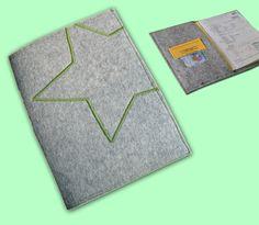 U-Heft Hülle für U-Heft Impfpass und K-Karte Stern von M&Kate auf DaWanda.com