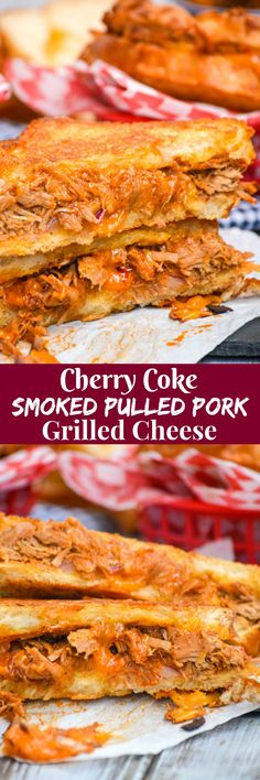 These Cherry Coke Smoked Pulled Pork Barbecue Grilled Cheese are the ultimate way to celebrate Spring & Summer, and the perfect way to introduce your smoker to a new season. Lunch or dinner, either one, this is the meal for you.