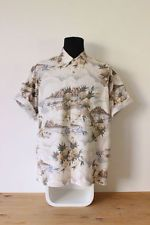 PIERRE CARDIN HAWAIIAN SHIRT mens tee PINEAPPLE size XL cotton festive trendy xl
