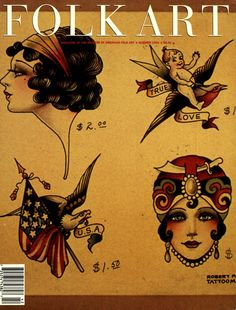 A late nineteenth, early twentieth century tattoo pattern book is now on view at the museum and serves as the inspiration for Bibhu Mohapatra Flash Art Tattoos, Old Tattoos, Pin Up Tattoos, Body Art Tattoos, Arm Tattoo, Arabic Tattoos, Arabic Henna, Tattoo Ink, Sleeve Tattoos