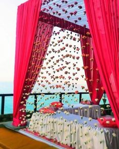 Destination Wedding Event Planning Ideas and Tips Desi Wedding Decor, Wedding Mandap, Outdoor Wedding Decorations, Stage Decorations, Cake Wedding, Valentine Decorations, Wedding Card, Flower Decorations, Mehendi Decor Ideas