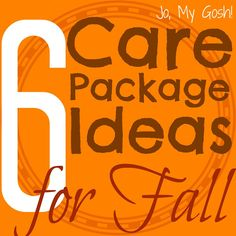 Jo, My Gosh! | 6 Care Package Ideas for Fall - Lots more care package ideas at http://pinterest.com/militaryavenue/care-package-ideas/