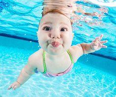 "Fotografias do livro ""Underwater Babies"" do fotógrafo Seth Casteel."