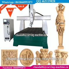 3D Wood Foam Rotary Achsen 4 Achs CNC Gravur Maschine, 4 Axis CNC Router Engraver Machine