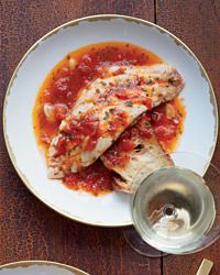 Fish in Crazy Water Recipe by Marcella Hazan in Food & Wine 3/13 - red snapper fillets