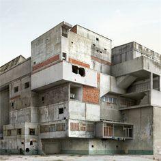 'Absurdist' architecture by Filip Dujardin