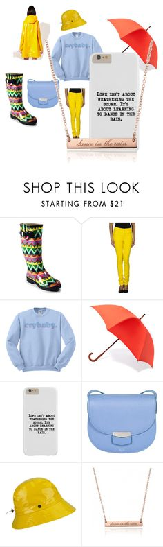 """""""dance in the rain"""" by feelings-to-fashion on Polyvore featuring Corkys, MM6 Maison Margiela, London Undercover, CÉLINE, Karen Kane, dance, rain, rainboots and YellowRaincoat"""
