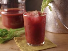 Bloody Mary with Homemade Vegetable Juice recipe from Bobby Flay via Food Network
