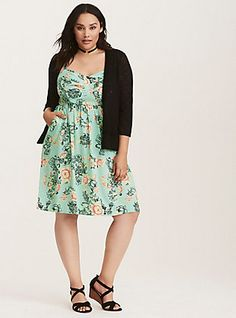 Multi-Color Floral Print Challis Bow Front Dress, SWEET TALK FLUTTER