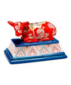 Look what I found on #zulily! French Meadow Cow 3-D Butter Dish #zulilyfinds