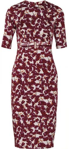 Suno Cutout floral-print stretch-silk dress on shopstyle.com