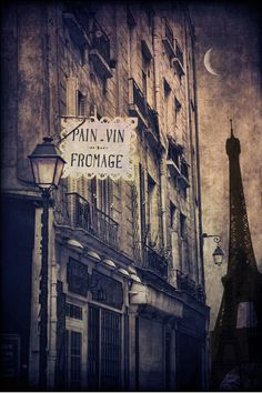 Love the 'pain, vin & frommage' of Paris.