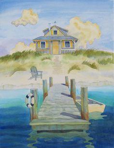 Blue Beach House ~ Robin Wethe Altman