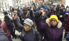 Protestors march in Milwaukee