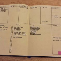 """""""This week I'm experimenting with a different weekly layout this week. I quite like the extra space that I get by going across the page #planner #planwithmechallenge #bulletjournal #bulletjournaling #journalling"""" Photo taken by @louisetilbrookdesigns on Instagram, pinned via the InstaPin iOS App! http://www.instapinapp.com (10/12/2015)"""