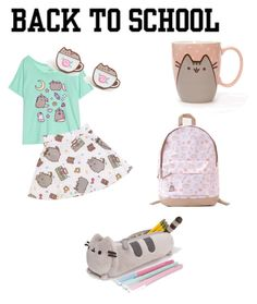 """""""#PVxPusheen back to school"""" by cfloodnm ❤ liked on Polyvore featuring Pusheen, contestentry and PVxPusheen"""