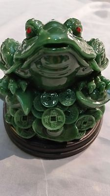 Large #green feng shui chinese good luck #money #mixed material toad 11.5 cm h ,  View more on the LINK: http://www.zeppy.io/product/gb/2/162268255214/