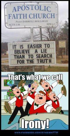 Irony! #Atheism #Atheist #Irony