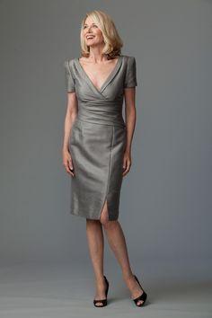 Siri Wilshire Dress in Mirage, Stone
