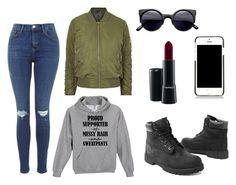 """Casual & Urban"" by amuramasri on Polyvore featuring mode, Timberland, Topshop, Dolce&Gabbana en MAC Cosmetics"