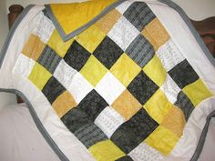 Custom order baby quilt Made by Heather Miller of Laundry Room Quilts