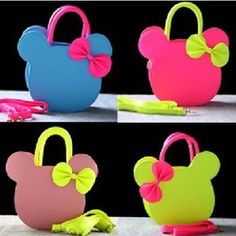 Online Shop Children kids Mimi fruit Korean girls Mickey Minnie mouse bow candy-colored cartoon PU leather shoulder shool bag handbag Aliexpress Mobile